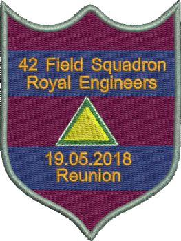 42 Reunion Embroidered Badge